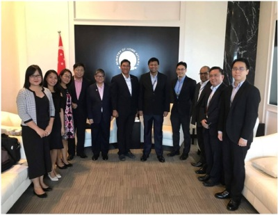ASEAN Chair's AMMTC Team Held Talks with Singapore Government Officials