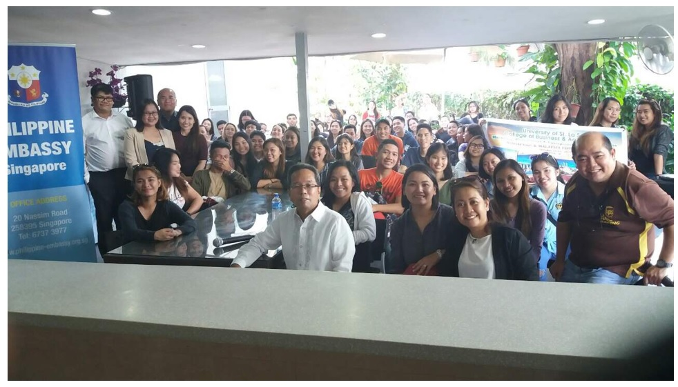 University of St. La Salle- Bacolod Faculty and Students Pay Courtesy Call at the Philippine Embassy