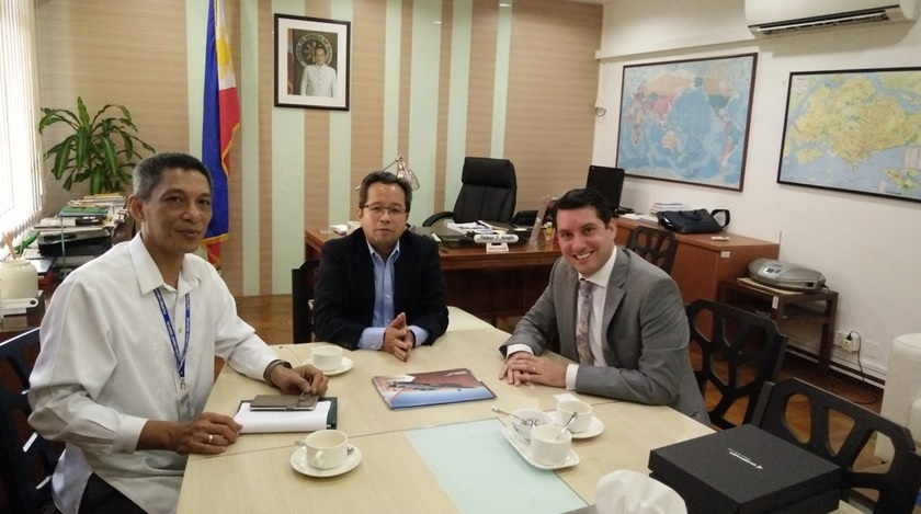 Representative of Embraer pays courtesy call on officials of Philippine Embassy in Singapore