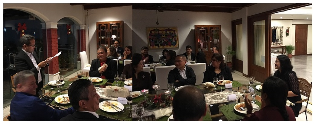 PHL officials gather at  Official Residence in Singapore